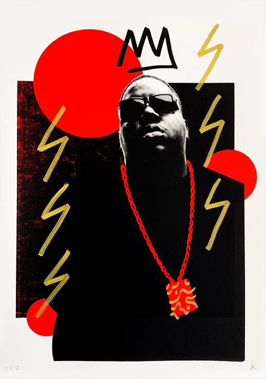 Biggie - Black & Red - (Framed)