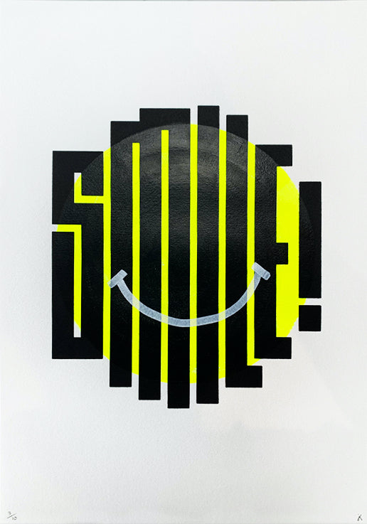 Smile - Neon Yellow (Hand Painted)