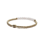 gold rose quartz find love bracelet clasp