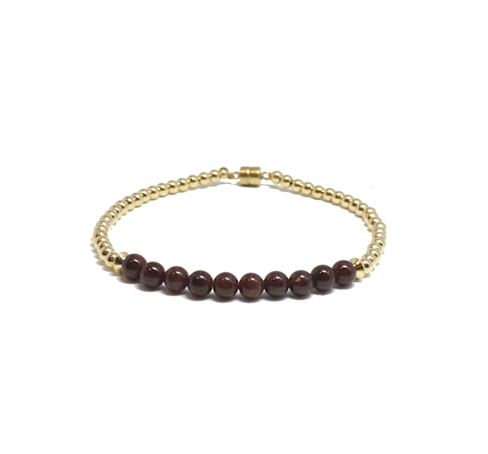 garnet and gold find your creativity bracelet