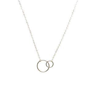 Gold Circle Pendant Friendship Necklace
