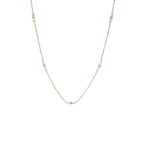 howlite beaded gold necklace