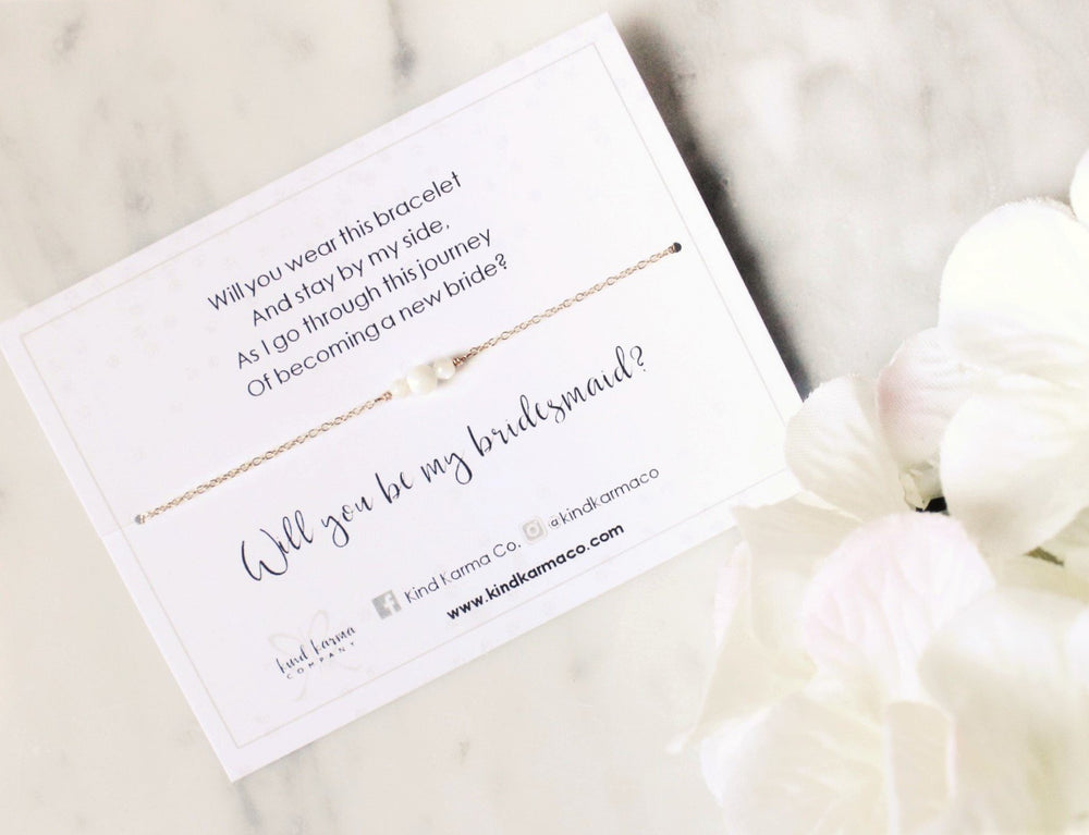 Maid of Honor Jewelry Cards