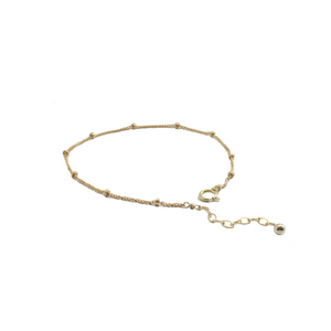 gold satellite chain anklet clasp