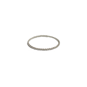 silver twisted stacking ring