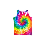 Tie Dye Women's Racerback Tank Top Spiral Sizes S M L XL 2XL 3XL - ID 1001WT