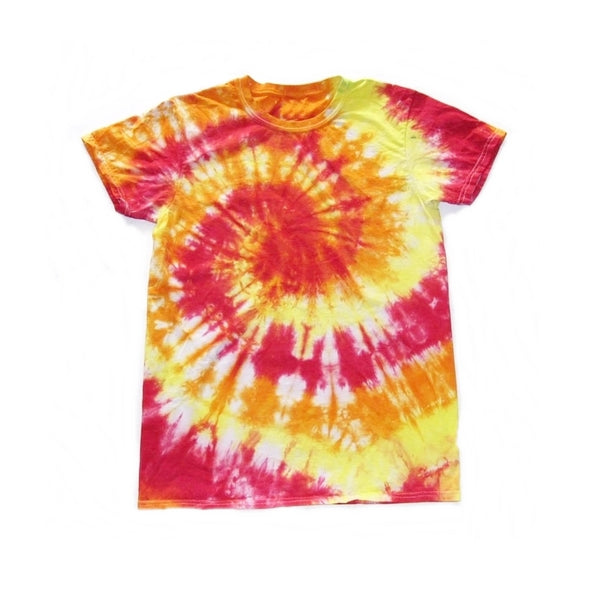 Tie Dye Short Sleeve T Shirt Spiral  Sizes Infant Toddler Youth Adult - ID 10035.3