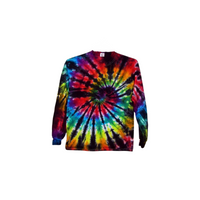 Tie Dye Long Sleeve T Shirt 5.3oz Spiral Youth XS-XL Adult S-3XL - ID 1003LS