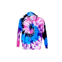 Tie Dye Hoodie Zipper Hoodie Pullover Hoodless Sweater Options Spiral Adult S-3XL - ID 1005HS