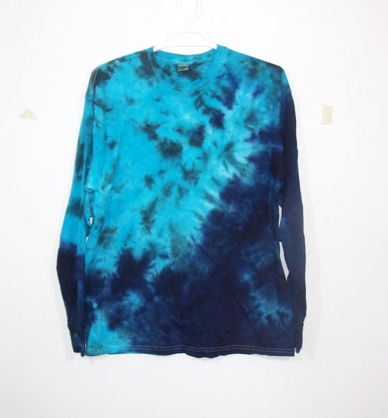 Tie Dye T Shirt Adult XL Long Sleeve Crinkle Cotton 5.3oz Premade