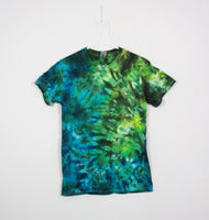 Tie Dye T Shirt Adult Small Crew Neck Crinkle Gildan Ultra Cotton 6 ounce Short Sleeve Premade