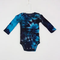 Tie Dye Onesie 6-12 Months Child of Mine Galaxy Swirl Long Sleeve Bodysuit Handmade Tye Die Cotton Premade