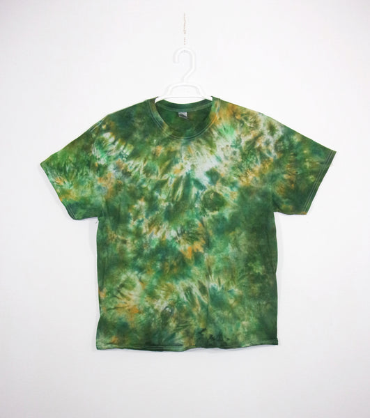 Tie Dye T Shirt Adult XL Crew Neck Crinkle Gildan Ultra Cotton 6 ounce Short Sleeve Premade