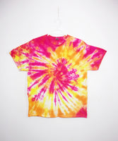 Tie Dye T Shirt Adult XL Crew Neck Spiral Gildan Ultra Cotton 6 ounce Short Sleeve Premade