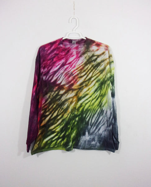 Tie Dye T Shirt Adult 2XL Long Sleeve Shibori Cotton 5.3oz Premade