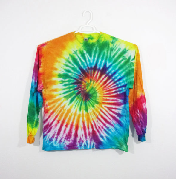 Tie Dye T Shirt Adult 2XL Long Sleeve Spiral Cotton 5.3oz Premade