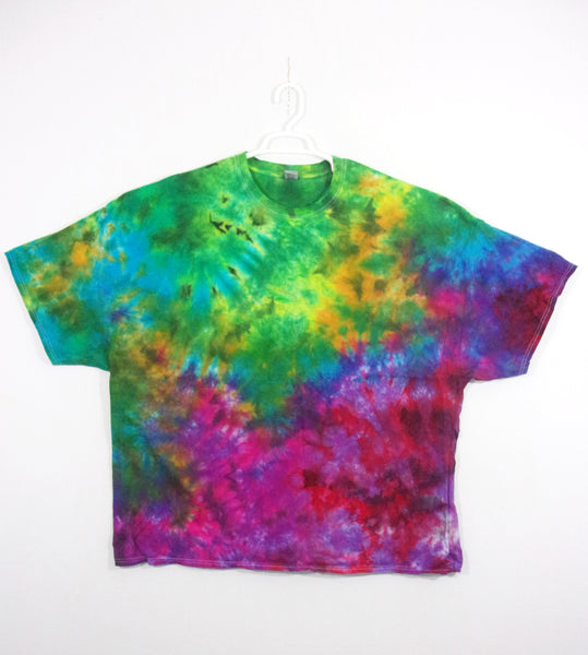 Tie Dye T Shirt Adult 5XL Crew Neck Crinkle Cotton Short Sleeve 5.3oz Premade