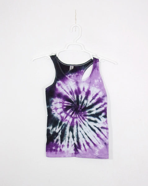 Tie Dye Tank Top Adult Small Spiral Cotton Racerback Ladies Tank Top Women's Premade