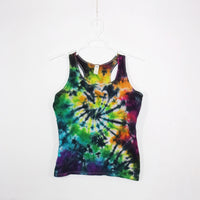Tie Dye Tank Top Adult Large Galaxy Swirl Cotton Racerback Ladies Tank Top Women's Premade