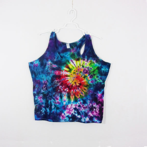 Tie Dye Tank Top Adult 3XL Galaxy Swirl Racerback Ladies Tank Top Women's Premade