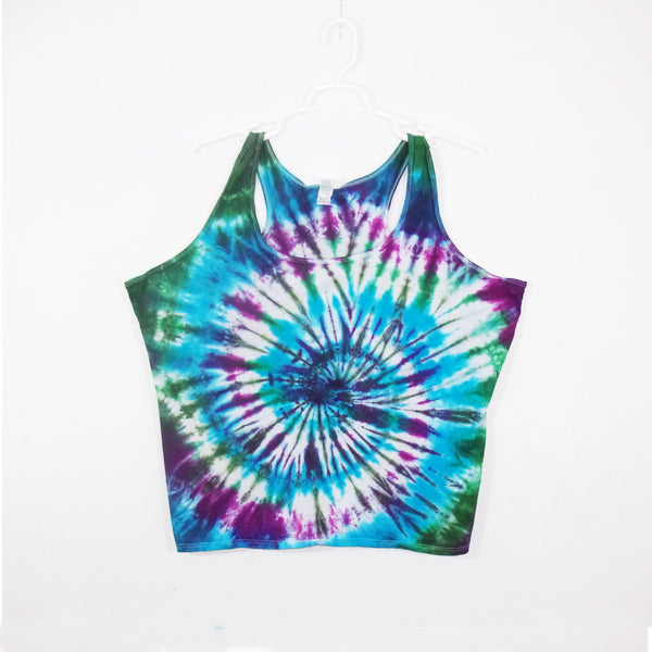 Tie Dye Tank Top Adult 3XL Spiral Racerback Ladies Tank Top Women's Premade
