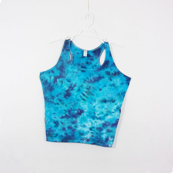 Tie Dye Tank Top Adult 2XL Crinkle Racerback Ladies Tank Top Women's Premade