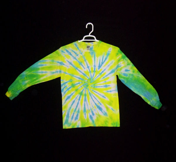 Tie Dye T Shirt Adult Medium Long Sleeve Spiral Cotton 5.3oz Premade
