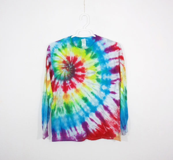 Tie Dye T Shirt Adult Large Long Sleeve Spiral Cotton Premade