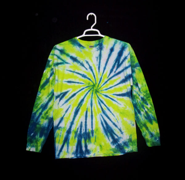 Tie Dye T Shirt Adult Large Long Sleeve Spiral Cotton 5.3oz Premade