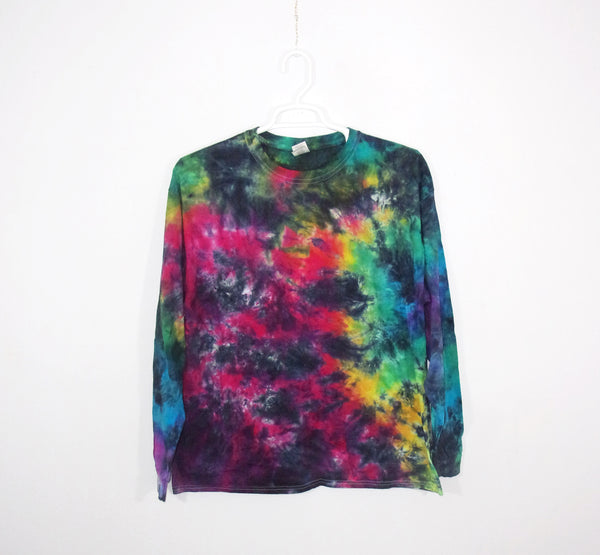 Tie Dye T Shirt Adult XL Long Sleeve Crinkle Cotton Premade