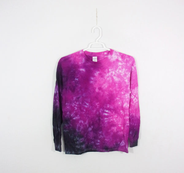 Tie Dye T Shirt Adult Medium Long Sleeve Crinkle Cotton Premade