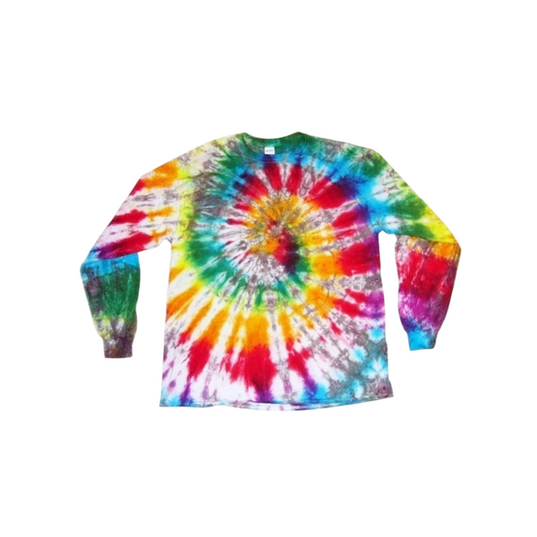 Tie Dye Long Sleeve T Shirt 5.3oz Spiral Youth XS-XL Adult S-3XL - ID 1014LS