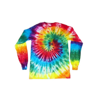 Tie Dye Long Sleeve T Shirt 5.3oz Spiral Youth XS-XL Adult S-3XL - ID 1025LS