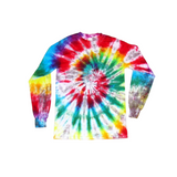 Tie Dye Spiral Long Sleeve T Shirt Adult Youth Sizes