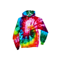 Tie Dye Hoodie Zipper Hoodie Pullover Hoodless Sweater Options Spiral Adult S-3XL - ID 1035HS