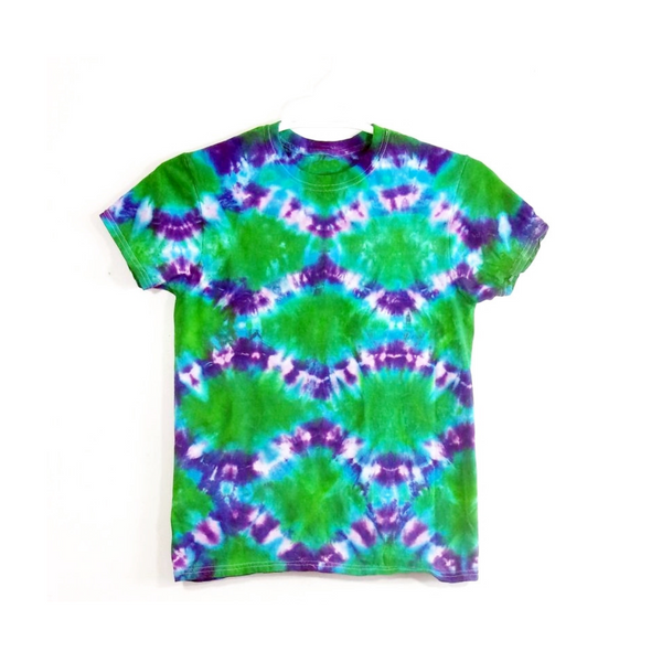Tie Dye Short Sleeve T Shirt Fish Scales Sizes Infant Toddler Youth Adult - ID 105025.3