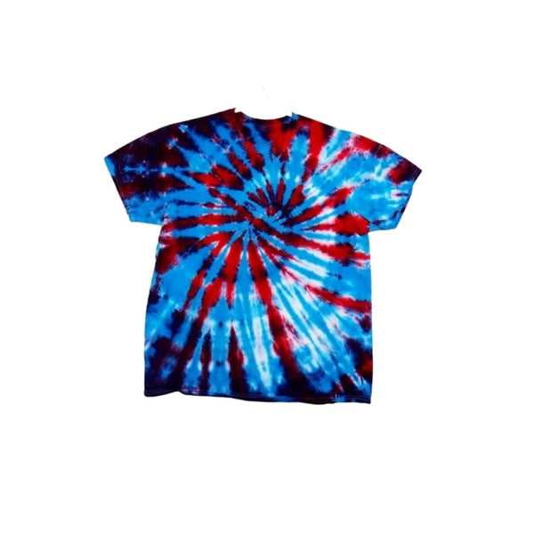 Tie Dye Short Sleeve Shirt Spiral Handmade Tye Die Infant Toddler Youth Adult 6 mos 12 mos 18 mos 24 mos 2T 3T 4T 5T 6T XS S M L XL 2XL 3XL 4XL 5XL