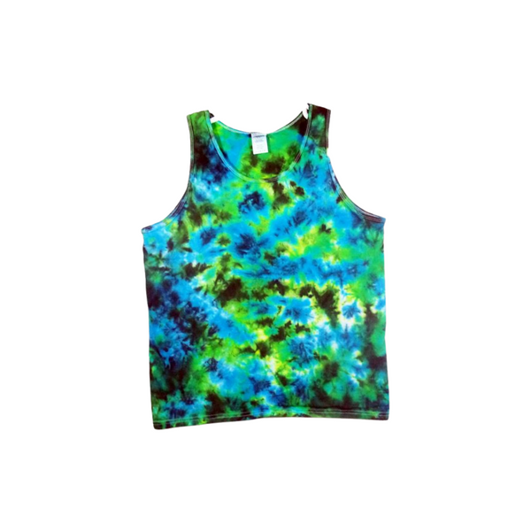 Tie Dye Tank Top Crinkle Cotton Tank Top Men's Tank Top Ultra Cotton Sizes S M L XL 2XL 3XL