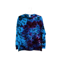 Tie Dye Crinkle Long Sleeve T Shirt Adult Youth Sizes 5.3oz