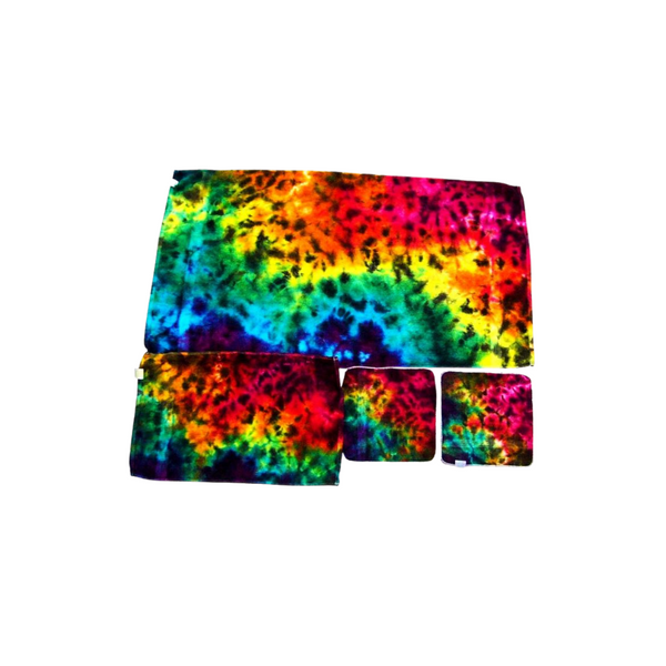 Tie Dye Bathroom Towel Set of 1 Bath Towel 1 Hand Towel 2 Wash Cloths Cotton 100%