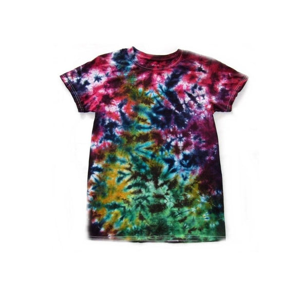 Tie Dye Short Sleeve T Shirt Crinkle Sizes Infant Toddler Youth Adult - ID 20095.3