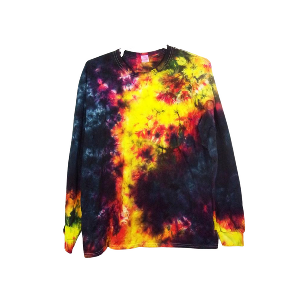 Tie Dye Long Sleeve T Shirt 5.3oz Crinkle Youth XS-XL Adult S-3XL - ID 2027LS