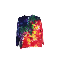 Tie Dye Crinkle Long Sleeve T Shirt Adult Youth Sizes