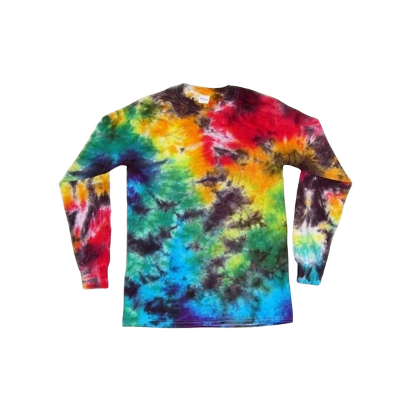 Tie Dye Long Sleeve T Shirt 5.3oz Crinkle Youth XS-XL Adult S-3XL - ID 2033LS