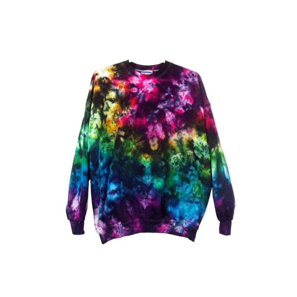 Tie Dye Hoodie Zipper Hoodie Pullover Hoodless Sweater Options Crinkle Adult S-3XL - ID 2037HS