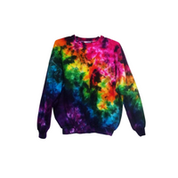 Tie Dye Sweatshirt Hoodless Sweater Hoodie Zipper Hoodie Pullover Options Crinkle S M L XL 2XL 3XL Heavyweight
