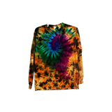 Tie Dye Long Sleeve T Shirt 5.3oz Galaxy Swirl Youth XS-XL Adult S-3XL - ID 3001LS