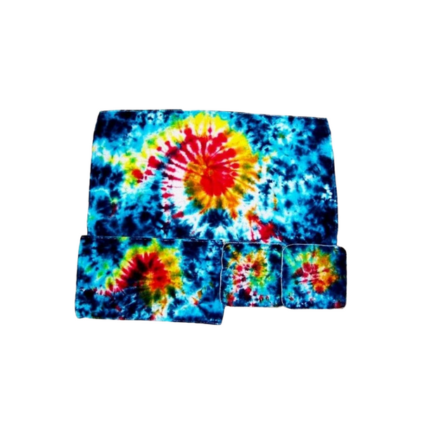 Tie Dye Bath Towel Set Galaxy Swirl - ID 3004BTS