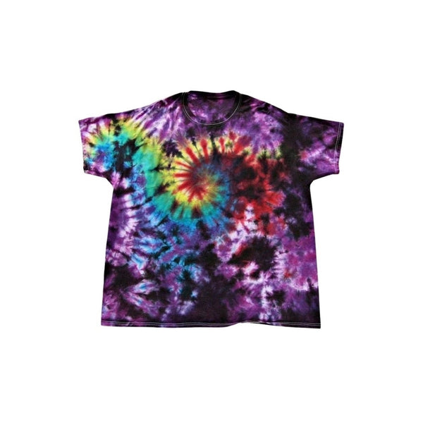 Tie Dye Short Sleeve Shirt Galaxy Swirl Handmade Tye Die Infant Toddler Youth Adult 6 mos 12 mos 18 mos 24 mos 2T 3T 4T 5T 6T XS S M L XL 2XL 3XL 4XL 5XL