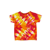 Tie Dye Short Sleeve T Shirt Half Accordion Fold Sizes Infant Toddler Youth Adult - ID 40045.3